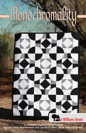 Monochromality A Confident Beginner Pieced Pattern 56x74