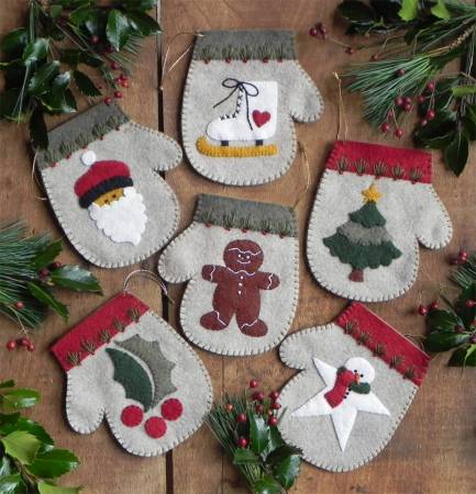 Warm Hands Mitten Ornaments Pattern