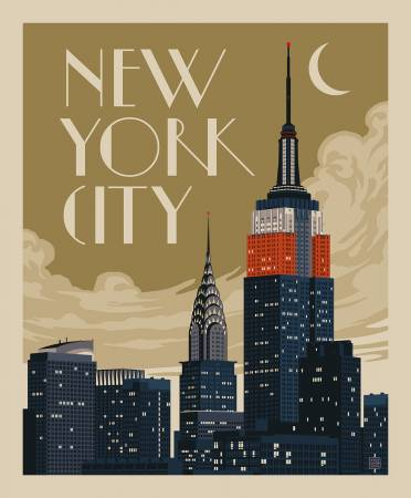 Destinations Panel New York Skyline 36in