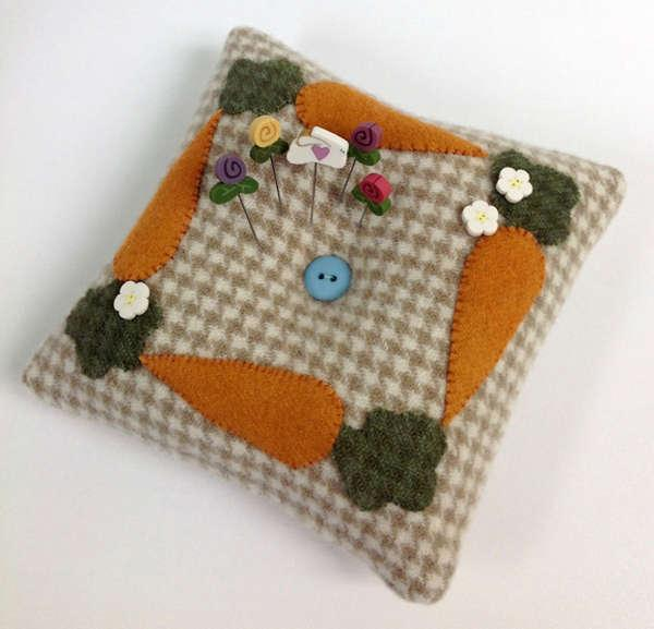 Carrot Tuft Pillow Pincushion Pattern