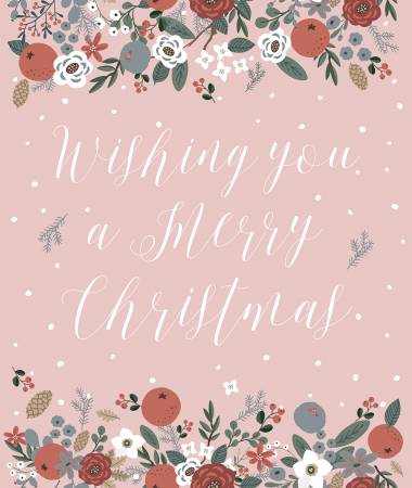 Warm Wishes - Panel Pink