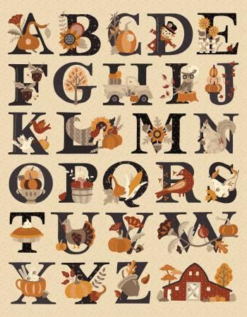 Bountiful Autumn Alphabet 54 in. Panel