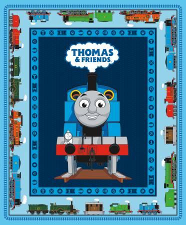 Riley Blake - Thomas & Friends All Aboard 36in Panel Blue Digitally Printed