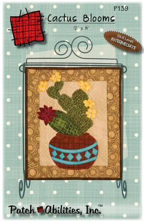Cactus Blooms wall hanging 12x14