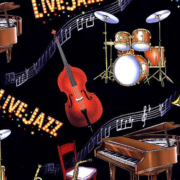 Live Jazz - Black Musical Instruments - P146E-BLK