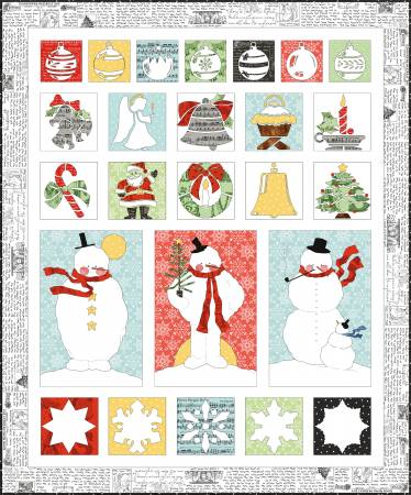 All About Christmas Raw Edge Applique Quilt Pattern