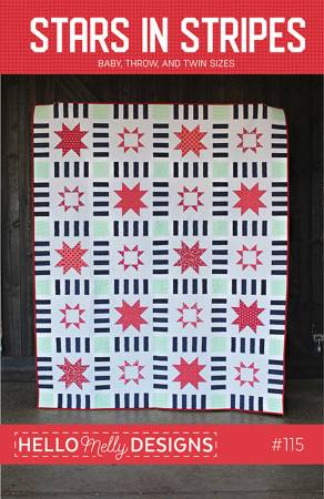 Hello Melly Designs Stars in Stripes Quilt Pattern