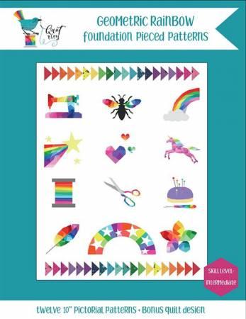 Geometric Rainbow Quilt