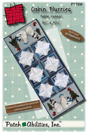 Cabin Flurries with Fabric & Wool Kit