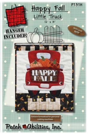 Happy Fall Little Truck Pattern With Hanger