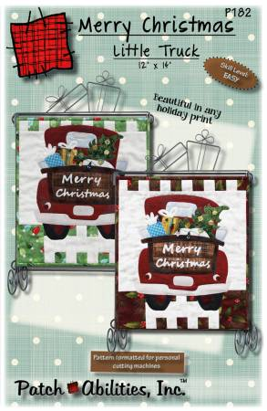 Merry Christmas Little Truck Pattern with Buttons