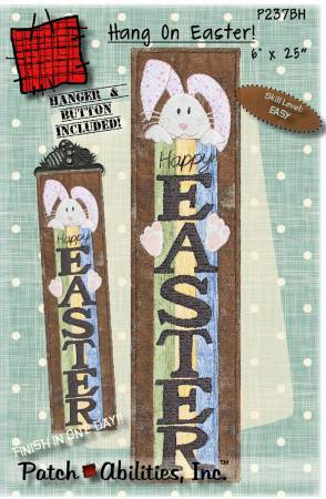 Hang on Easter with Button and 6 in Hanger