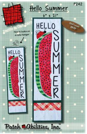 Hello Summer pattern with hanger