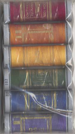Cotton Sewing Thread Sampler 3-ply 50wt 100m/109yds Jewel