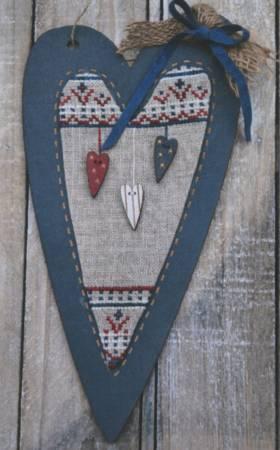 Cross Stitch Pattern -Patriotic Heart