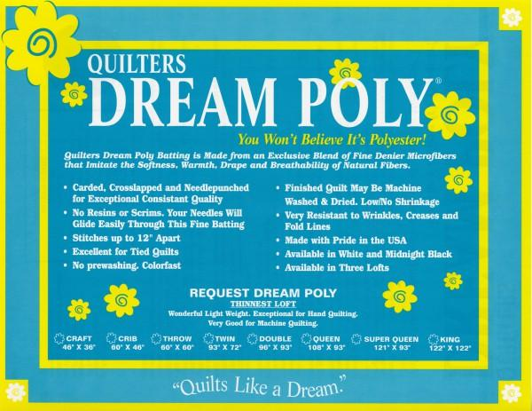 Quilters Dream Poly Request White Double Size 96in x 93in