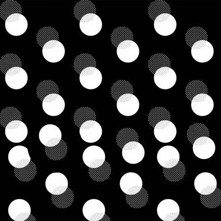 P4325H-4S Black Polka Dot w/Metallic Sparkle and Fade