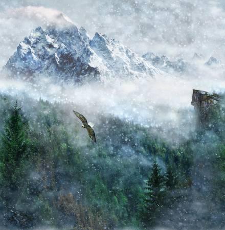F-PL-HCA-CTW-02 Hoffman California-CTW - Call Of the Wild-02-ASPEN - 44 square panel, Mountain scene