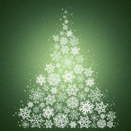 Pine Snowflakes Digitally Printed