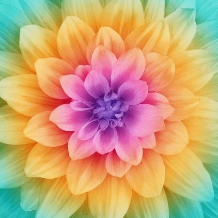 Rainbow Large Flower 43in x 43in Digitally Printed