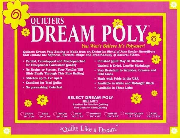 Quilters Dream Poly Select White Double Size 96in x 93in