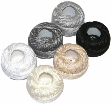 Finca Perle Cotton Size 5 Thread Sampler Pack Neutral