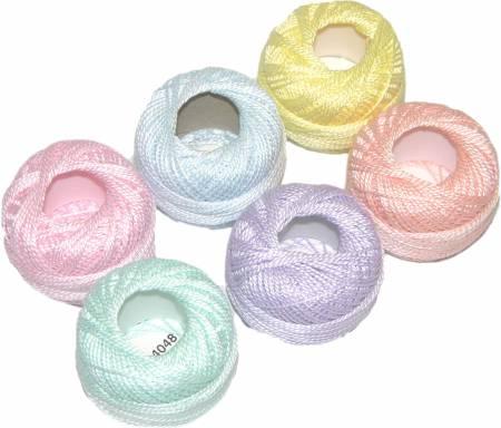 Finca Perle Cotton Size 5 Thread Sampler Pack Pastel