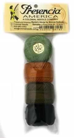 Pearl Cotton Size 8 Thread Sampler Pack Bertie's Winter