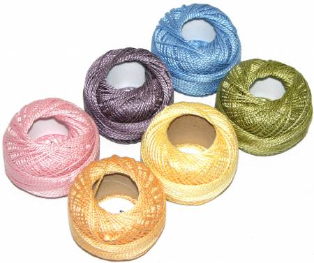 Finca Perle Cotton Size 8 Thread Sampler Pack Monet