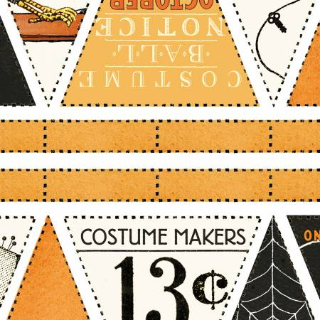 Costume Makers Ball Bunting Panel 24 X 44 Orange