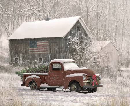 Christmas Memories Tree Farm Truck Panel