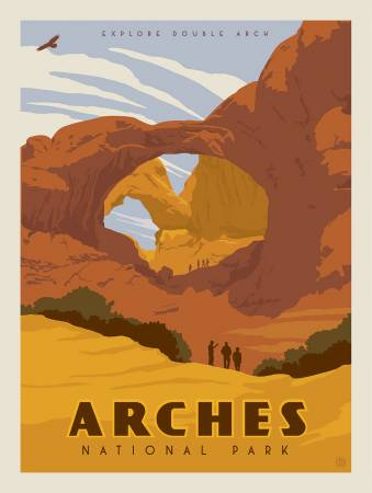 ARCHES NATIONAL PARKS PANEL P8786 by Riley Blake