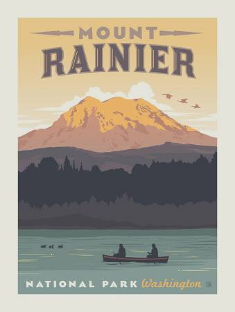 RAINIER NATIONAL PARKS PANEL P8793 by Riley Blake