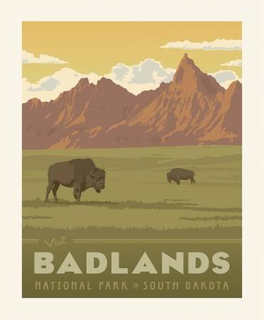 National Parks Badlands Panel 36