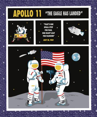 Apollo 11 Panel The Panel size is 36 x 43 1/2.