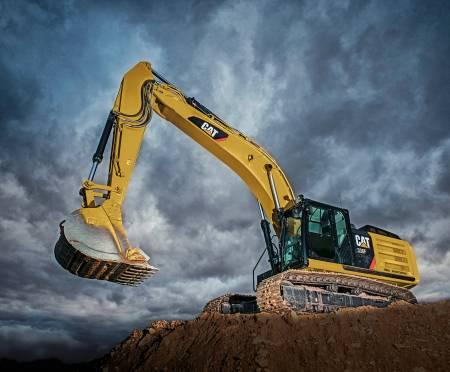 CAT Excavator Panel Panel size is 36 x 43 1/2.