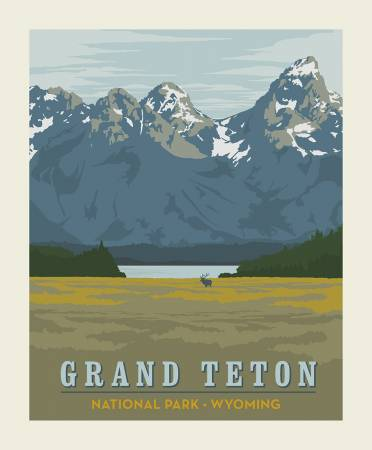 National Parks Grand Teton Panel 36 X 43