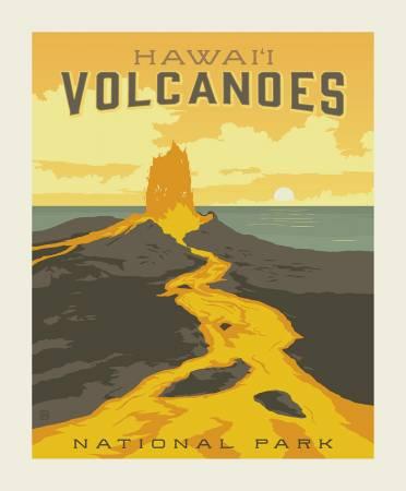 Riley Blake National Parks Volcanoes Panel 36 X 43