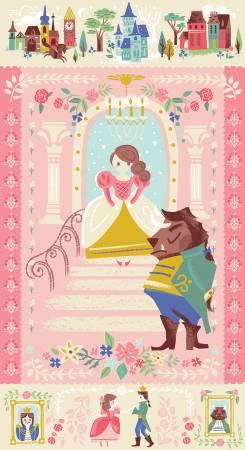 Riley Blake - Beauty & The Beast Panel Pink