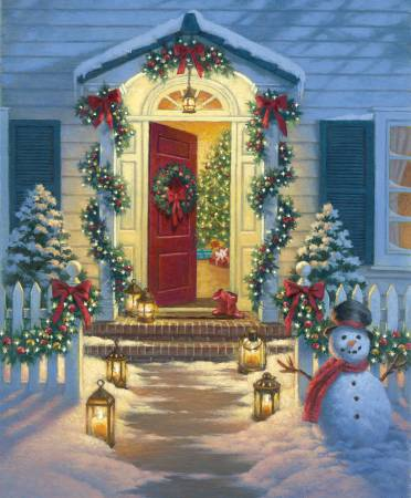 A Christmas Classic - 36in Panel - Porch