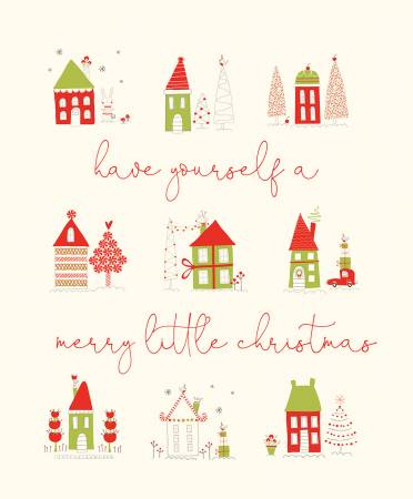 Merry Little Christmas Panel Cream