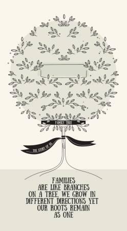My Heritage - Family Tree - 24in Panel - Cream