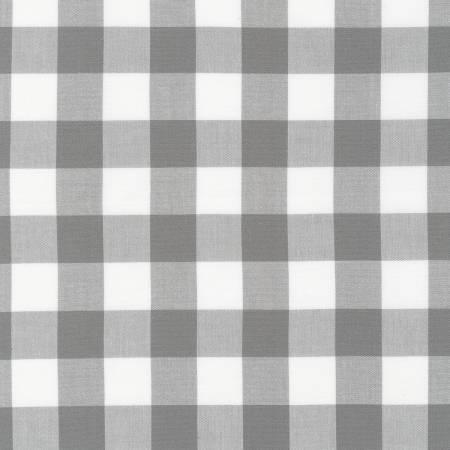 Grey 1in Gingham Yarn Dyed