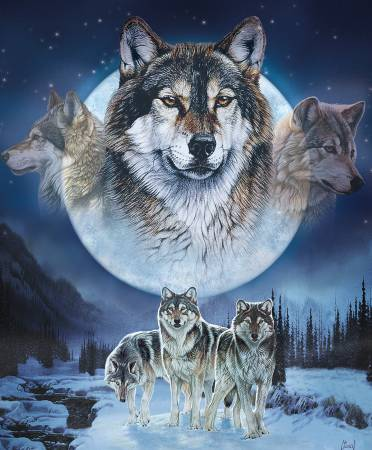 Natures Finest 36in Panel, Wolf