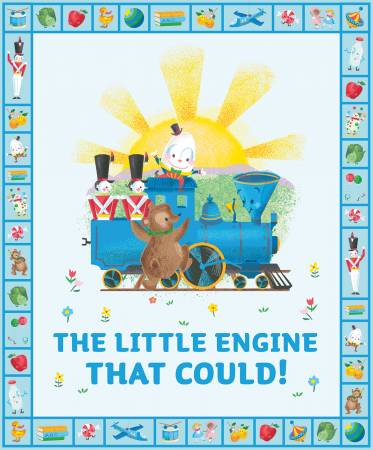 Little Engine That Could Children's Fabric Panel
