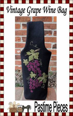 Vintage Grape Wine Bag