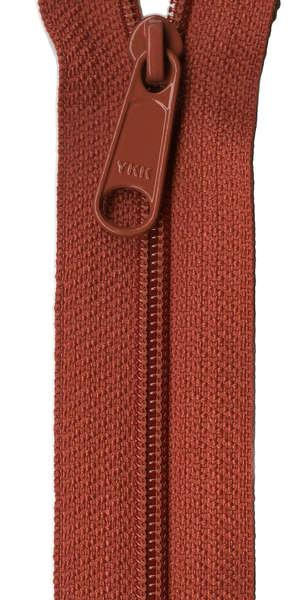 Handbag Zipper 24in Redwood