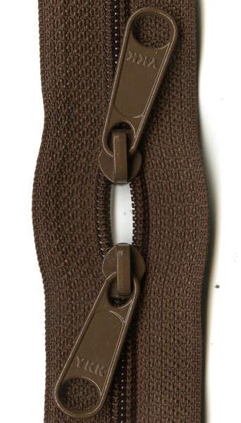 By Annie - Handbag Zipper 30 - Double-slide - Seal Brown