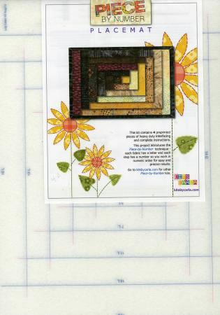 Piece By Number Placemats Log Cabin Set of Four