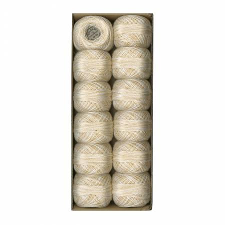 Valdani 12wt Variegated Pearl Cotton - Subtle Elegance